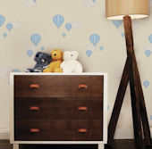 Hot Air Balloon Yellow Peel and Stick Wallpaper