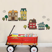 Houses Fabric Peel and Stick Decals