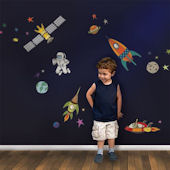Outer Space Fabric Peel Stick Decals