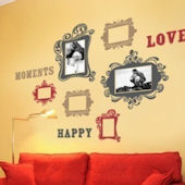 Vintage Photo Frames Deluxe Fabric Decals