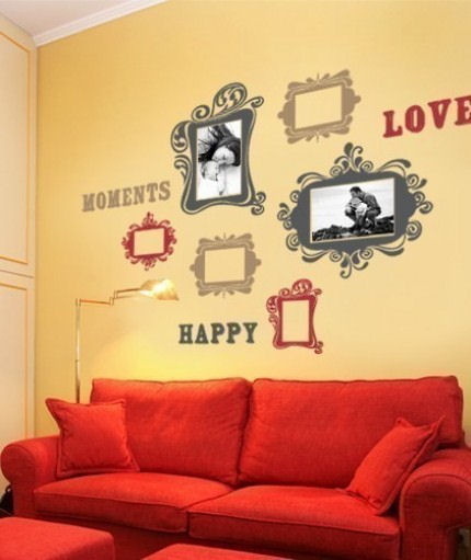 Vintage Photo Frames Deluxe Fabric Decals - Wall Sticker Outlet
