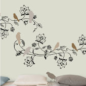 Birdland Self-Stick Home Wall Art