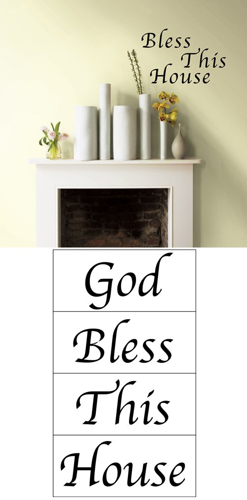 Bless This House Self Stick Home Wall Art
