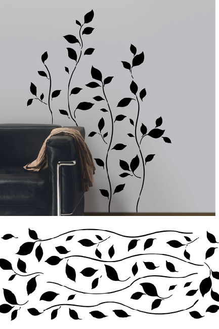Stick On Wall Art breezy branches self-stick home wall art sale