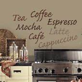 Cafe Espresso Self-Stick Home Wall Art
