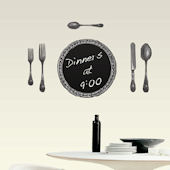 Chalkboard Cutlery Self-Stick Home Wall Art