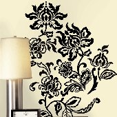 Deep Damask Self-Stick Home Wall Art