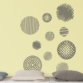 Going in Circles Self-Stick Home Wall Art