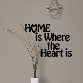 Home is Where the Heart Is Self-Stick Wall Art