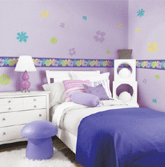 Snap Kids Poppin Poppies Room Appliques SALE - Wall Sticker Outlet