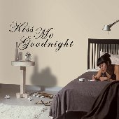 Kiss Me Goodnight Self-Stick Home Wall Art
