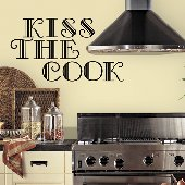 Kiss the Cook Self-Stick Home Kitchen Wall Art