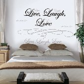 Live Laugh Love Self-Stick Home Wall Art