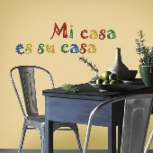 Mi Casa Es Su Casa Self-Stick Home Wall Art