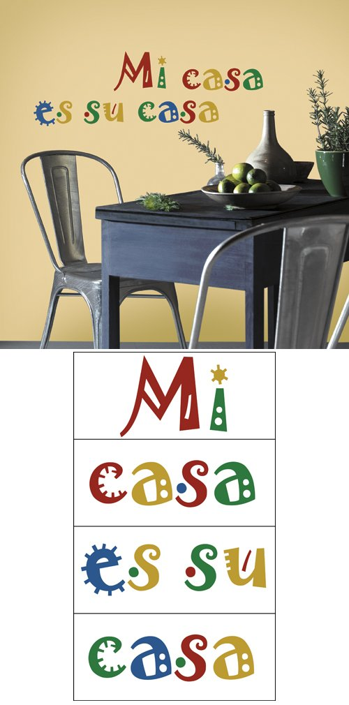 mi casa es su casa self stick home wall art kids wall decor store. Black Bedroom Furniture Sets. Home Design Ideas