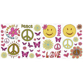 Peace and Love  Peel and Stick Appliques