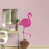 Pink Flamingo Self-Stick Home Wall Art