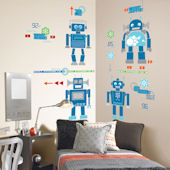 Robotic Room  Peel and Stick Appliques