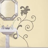 Swirly Self-Stick Home Wall Art