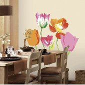 Tulip Mania Self-Stick Home Wall Art