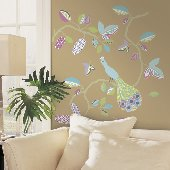 Urban Peacock Self-Stick Home Wall Art