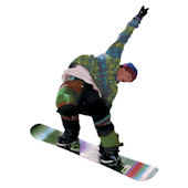 Snow Boarding Peel Stick Wall Mural