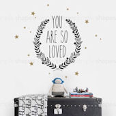 You Are So Loved Wall Decal Custom Colors
