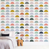 Minted Spectrum Tiles Repositionable Wall Mural