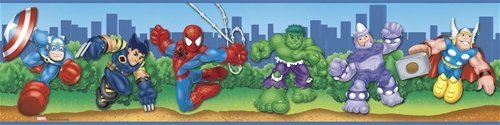 Spider Man & Friends Wall Border