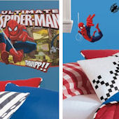 Ultimate SpiderMan Headboard Decal Room Package