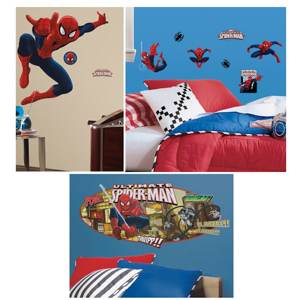 Ultimate SpiderMan Complete Room Package - Wall Sticker Outlet
