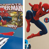 Ultimate SpiderMan Decal Room Package