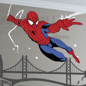 Spiderman Cityscape Giant Wall Decals