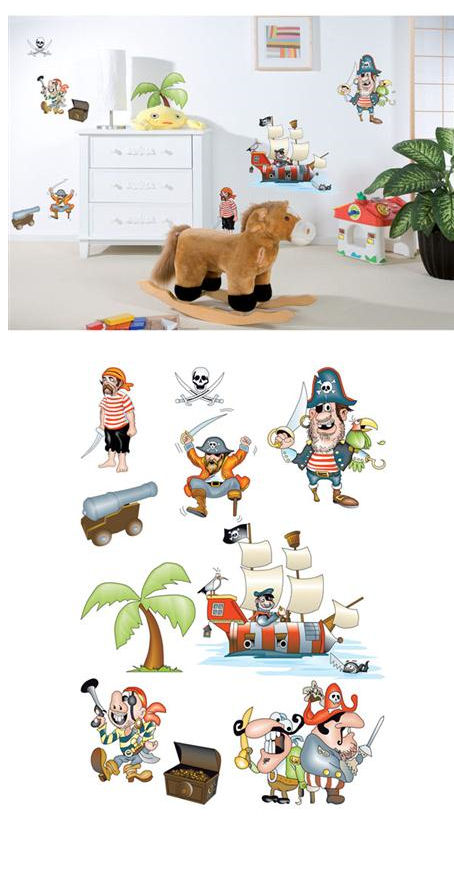 Pirates Peel and Stick Wall Stickers - Wall Sticker Outlet