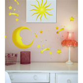 Stars and Moon Peel and Stick Wall  Stickers