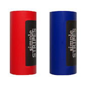 Simple Stripes Red and Dark Blue Color Bands