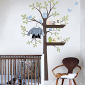 Shelving Tree Peel And Stick Wall Decal