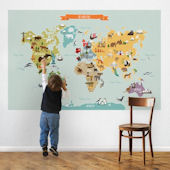 World Map Peel And Stick Wall Decal