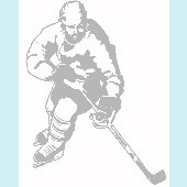 Hockey Forward - Sudden Shadows Wall Decals