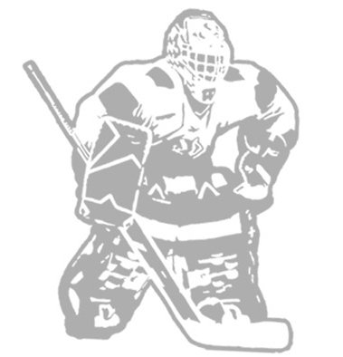 Hockey Goalie - Sudden Shadows Wall Decals - Wall Sticker Outlet