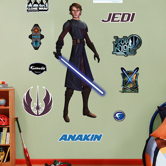 Fathead Anakin Skywalker Wall Graphic - Kids Wall Decor Store