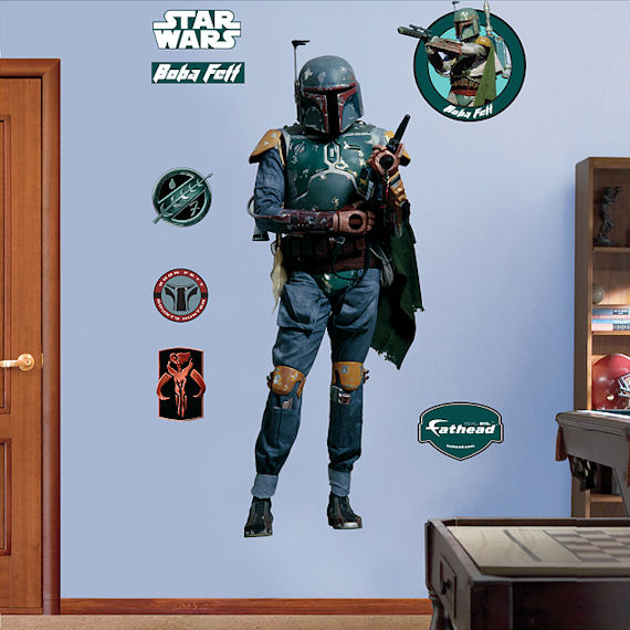 Fathead Boba Fett Wall Graphic - Kids Wall Decor Store