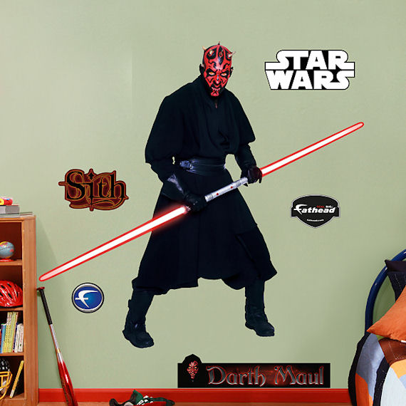 Fathead Darth Maul Wall Graphic - Wall Sticker Outlet