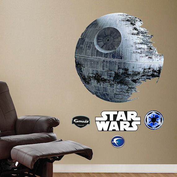 Death star wall decal death star artwork star wars decal for Death star wall mural