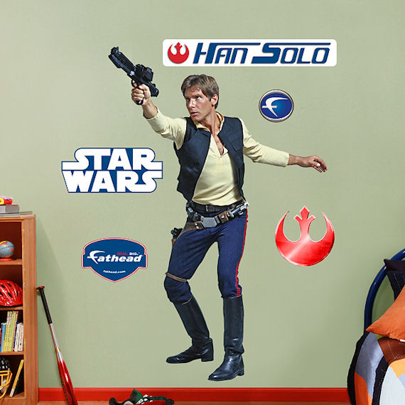 Fathead Han Solo Wall Graphic - Wall Sticker Outlet