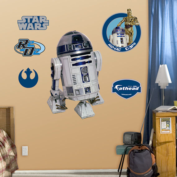 Fathead R2D2 Wall Graphic - Kids Wall Decor Store