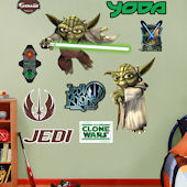 Fathead Yoda Clone Wars Wall Graphic