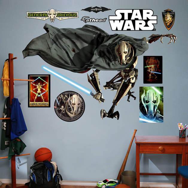 Fathead Star Wars General Grievous Wall Graphic - Wall Sticker Outlet