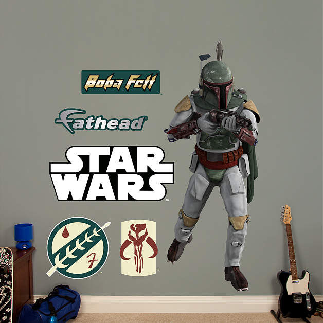 Fathead Star Wars Boba Fett Wall Graphic - Wall Sticker Outlet