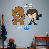 Fathead Star Wars Han Solo and Chewbacca POP